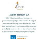 Gemiddelde klantwaardering ASBR Subsidium via het SNN een 9.1!
